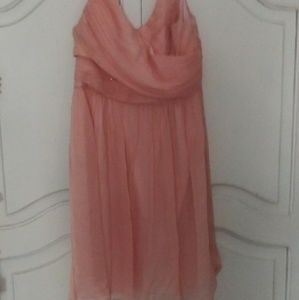 J CREW GORGEOUS peach colored Dress. Like New!